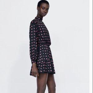 Zara polka dot dress (w/ shorts underneath)